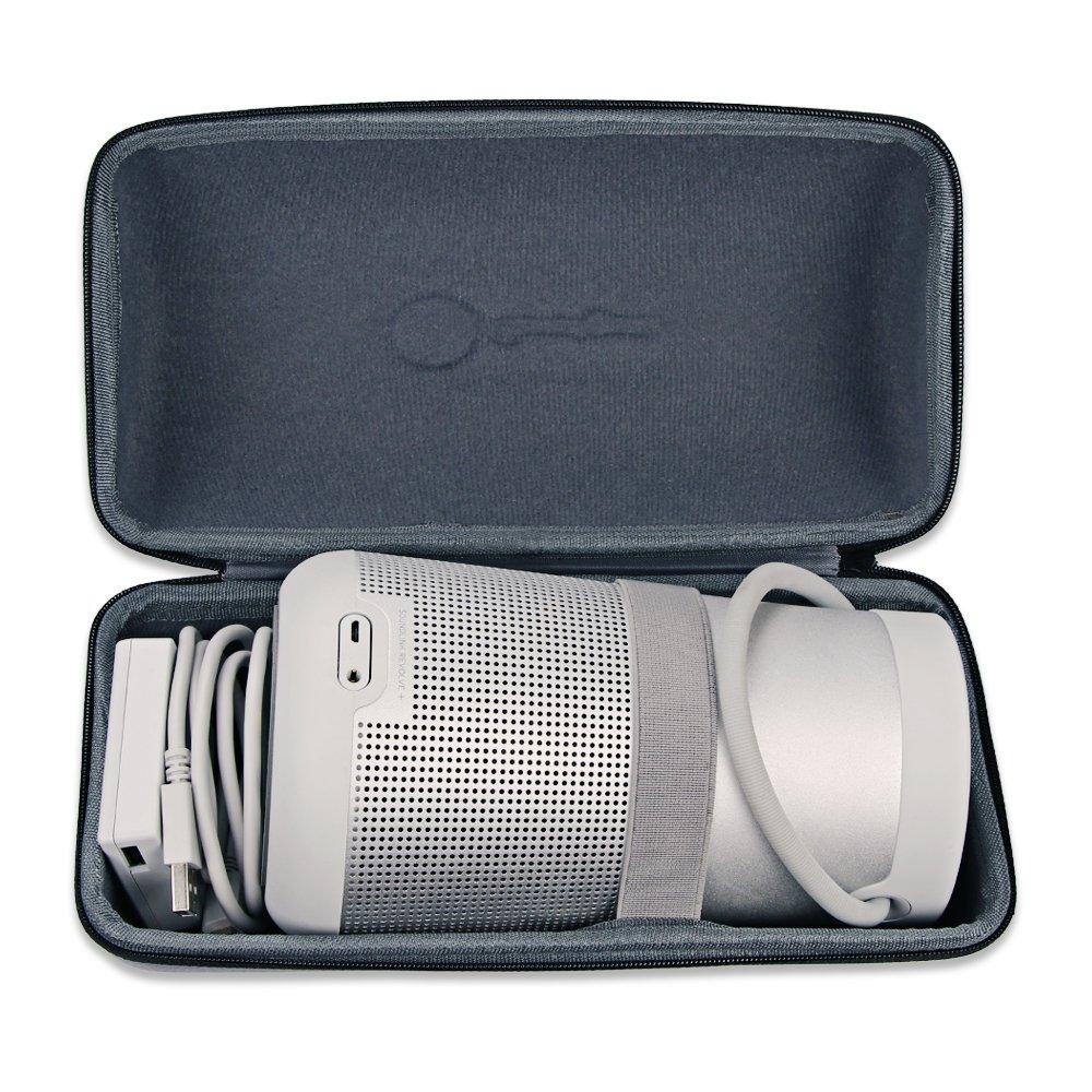 Bose SoundLink Revolve+ Plus Wireless Bluetooth Speaker Portable Hard Carrying Case Travel Bag (Black) by Esimen (Image #3)