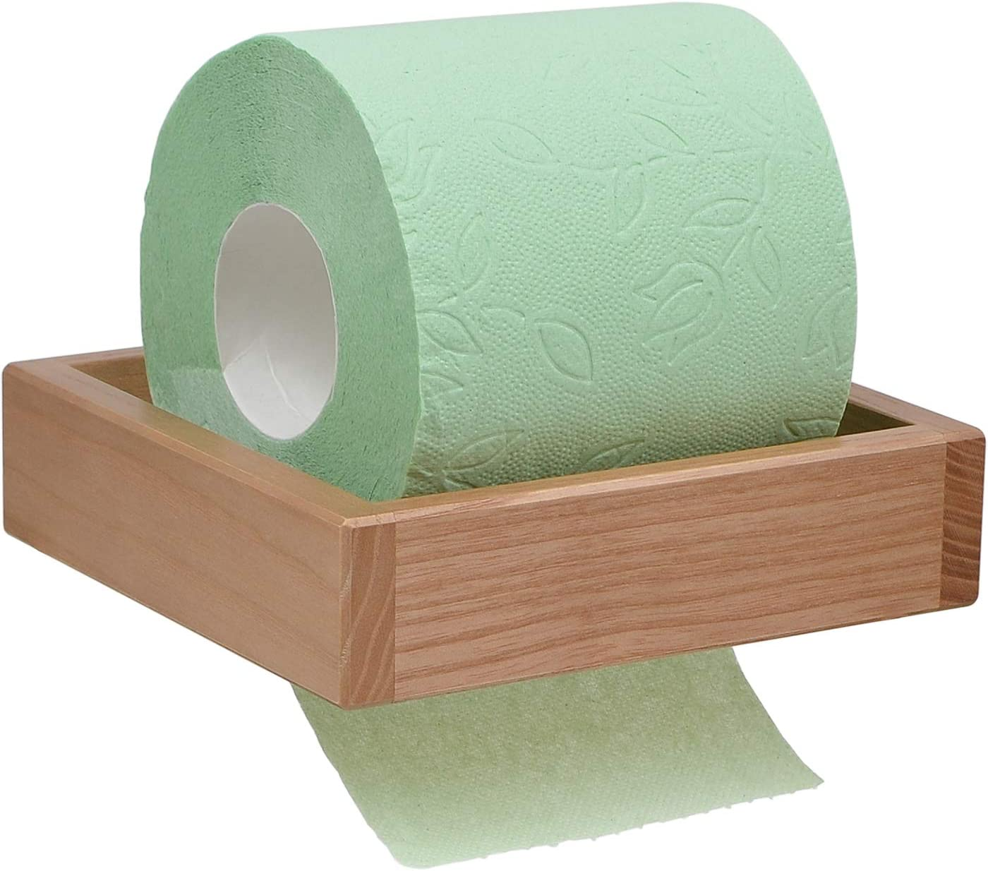 Wood Toilet Paper Holder Amazon Co Uk Kitchen Home