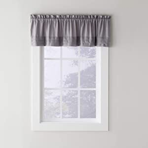 SKL Home by Saturday Knight Ltd. Holden Valance, Dove Gray, 58 inches x 13 inches