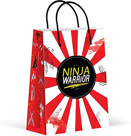 Premium Ninja Party Bags, Party Favor Bags, New, Treat Bags, Gift Bags, Goody Bags, Party Favors, Party Supplies, Decorations, 12 Pack
