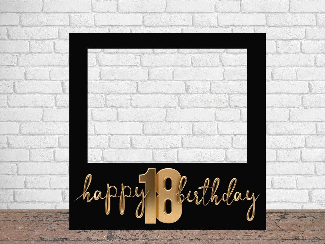 Photocall Feliz 18 Cumpleaños 100 x100 cm | Regalos para Cumpleaños | Photocall Económico y Original | Ideas para Regalos | Regalos Personalizados de Cumpleaños