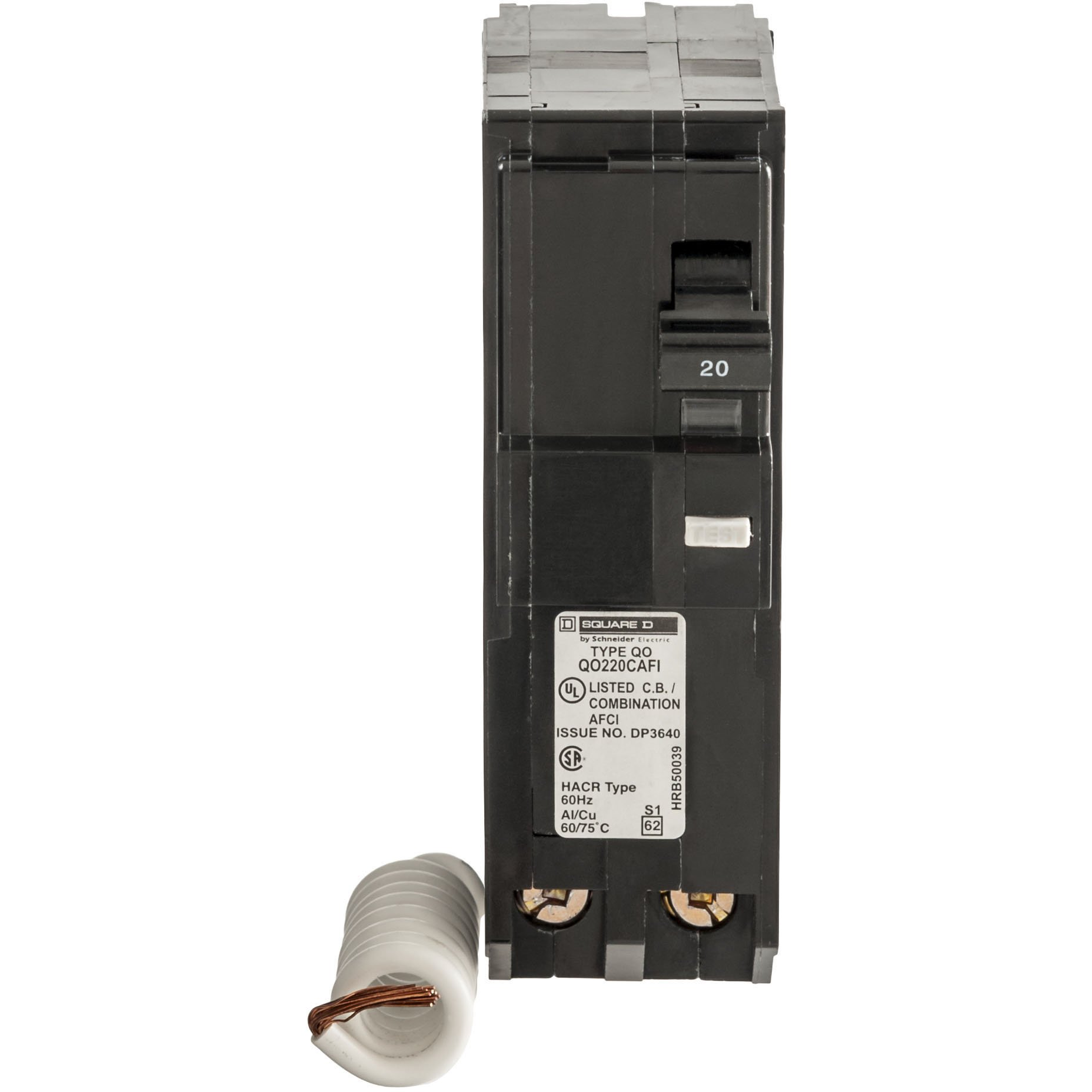 Square D by Schneider Electric QO 20 Amp 3.5 in. Two-Pole CAFCI Circuit Breaker