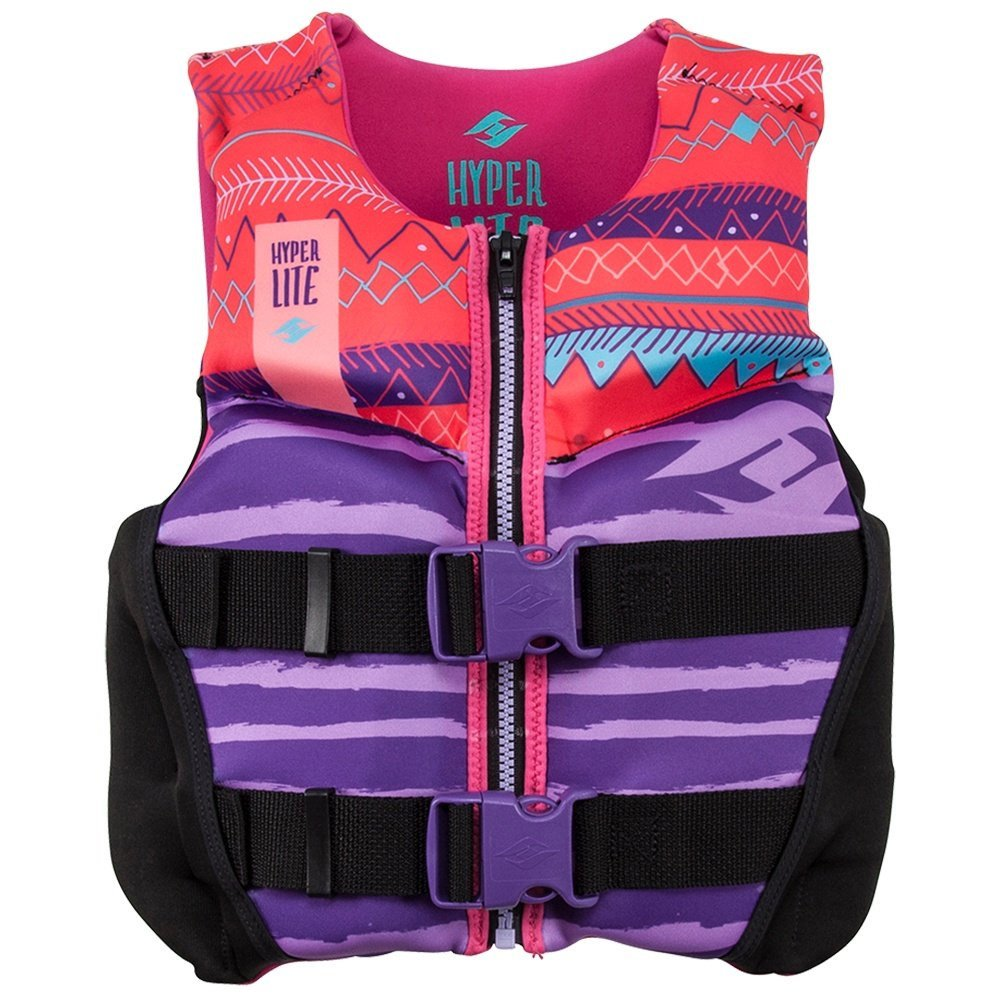 Hyperlite Youth Indy Neo Vest Girlsジュニアライフベスト 紫の-Coral Small