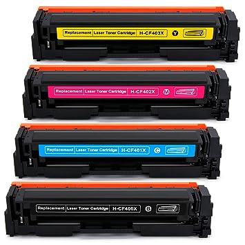 8 Pack High Yield CF400X Toner For HP 201X LaserJet Pro MFP M277dw M274n M252dw