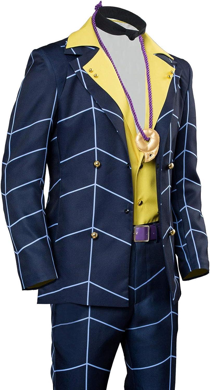 JoJo/'s Bizarre Adventure Golden Wind Prosciutto Suit Cosplay Costume Outfit Coat
