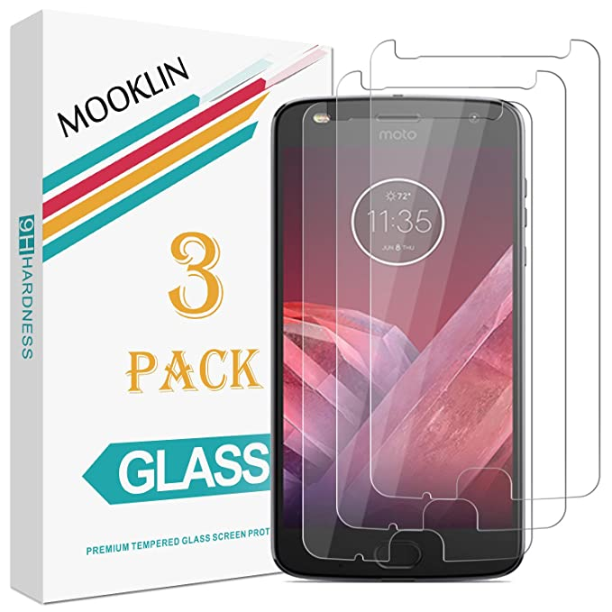 7 opinioni per MOOKLIN [3 Pezzi] Motorola Moto Z2 Play Pellicola Protettiva, [Antigraffio]