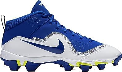 NIKE Men's Force Trout 4 Keystone Baseball Cleats (6.5, Blue/White)