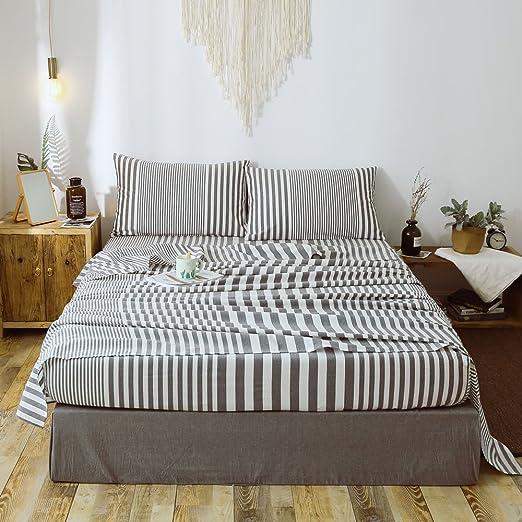 Amazon.com: Household 100% Cotton Deep Pocket Sheet Set Queen Size