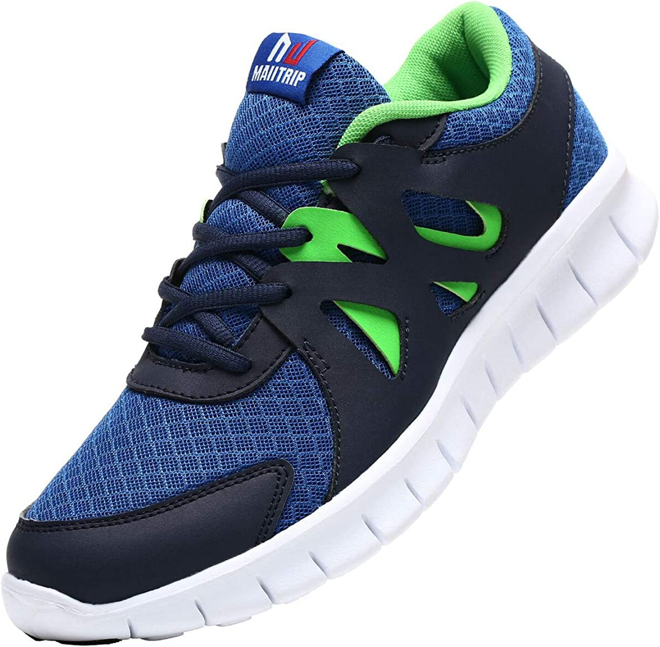 MAIITRIP Men's Trainers Road Running Shoes Casual Mesh Athletic Sneakers for Gym Sports Fitness
