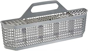 PUXING Dishwasher Silverware Basket, WD28X10128 Dishwasher Utensil Basket with Handle Compatible with Dishwasher Accessories Storage Box Replace Number AP3772889,AH959351