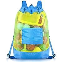 Bolsa de juguetes de playa, bolsas de almacenamiento de juguetes para niños Mochila de playa duradera con cordón para…