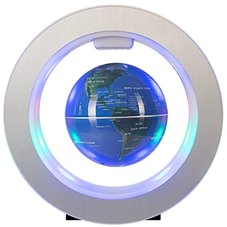 Amazon senders 4inch floating globe with led lights magnetic senders 4inch floating globe with led lights magnetic levitation floating globe with power button world map gumiabroncs Images