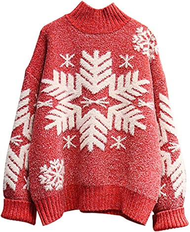 NOTRE DAME Women Christmas Sweater 2020 Winter Warm Pullover