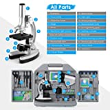 TELMU Microscope 300X-600X-1200X 70pcs+ Accessory