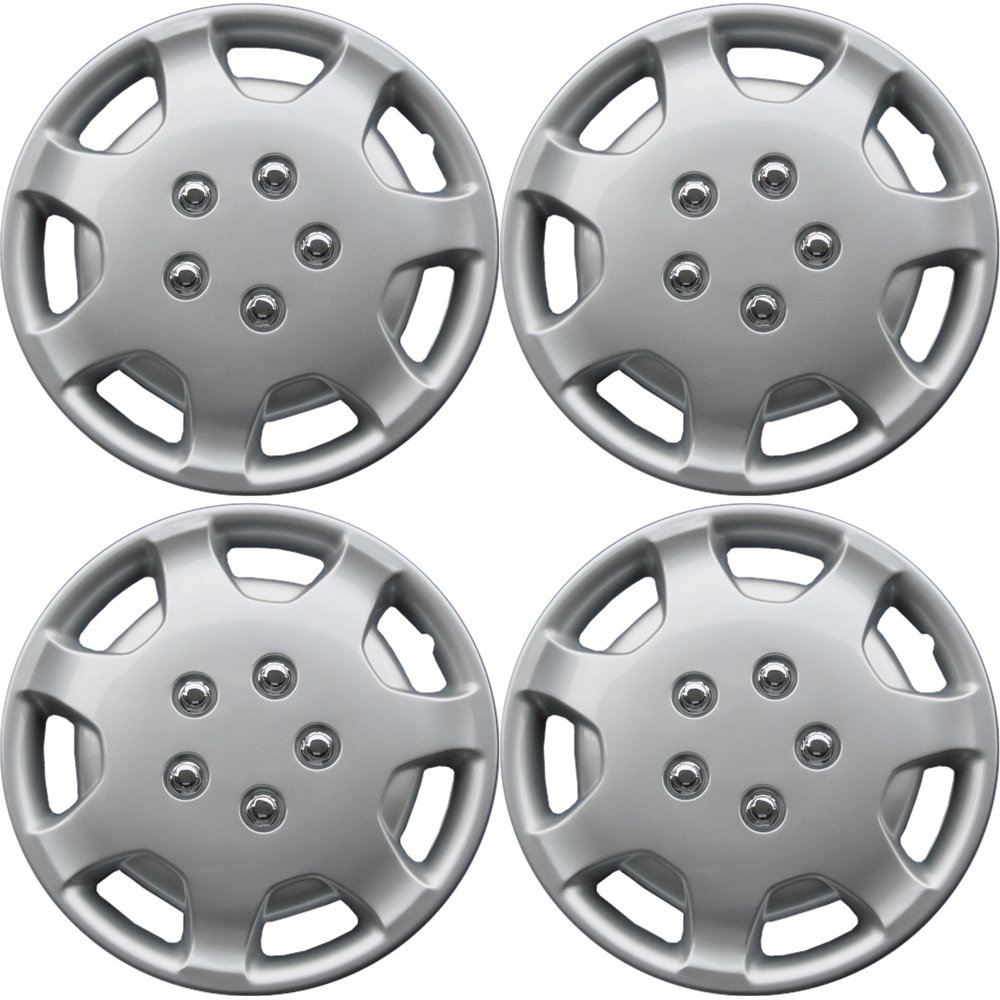 OxGord Hub-caps for 91-94 Toyota Camry (Pack of 4) Wheel Covers 14 inch Snap On Silver
