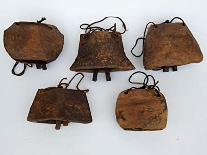 Amazon.com - Lot of 25 Pcs Antique 1900 S Teak Wood Cow Bells ... 6e819a6e30