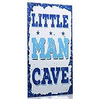 Little Man Cave Wood Sign Children Cave Sign Door Elegant Wood Sign Bedroom Sign Hanging Toddler Boys Room Decor Wall Art Decorative Wood Sign for Kids Children Bedroom