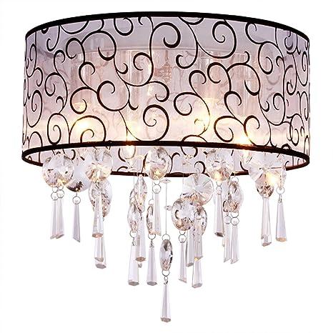 Dinggutm luxury drum 4 lights flush mounted crystal ceiling lamp dinggu luxury drum 4 lights flush mounted crystal ceiling lamp modern chandelier pendant light aloadofball Choice Image