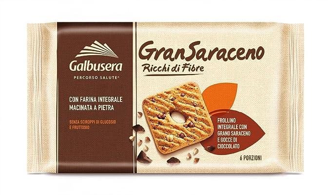 Galbusera GranSaraceno Frollino Integrale con Gocce di Cioccolato e Farina  di Tipo 2 , Pacco da 12 x 260 g Amazon.it Alimentari e cura della casa