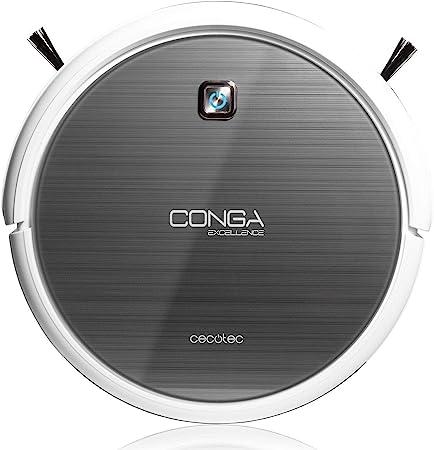 Cecotec Conga Excellence - Robot aspirador (4 en 1, barre, aspira, pasa la mopa y friega el suelo, silencioso, programable) color blanco: Amazon.es: Hogar