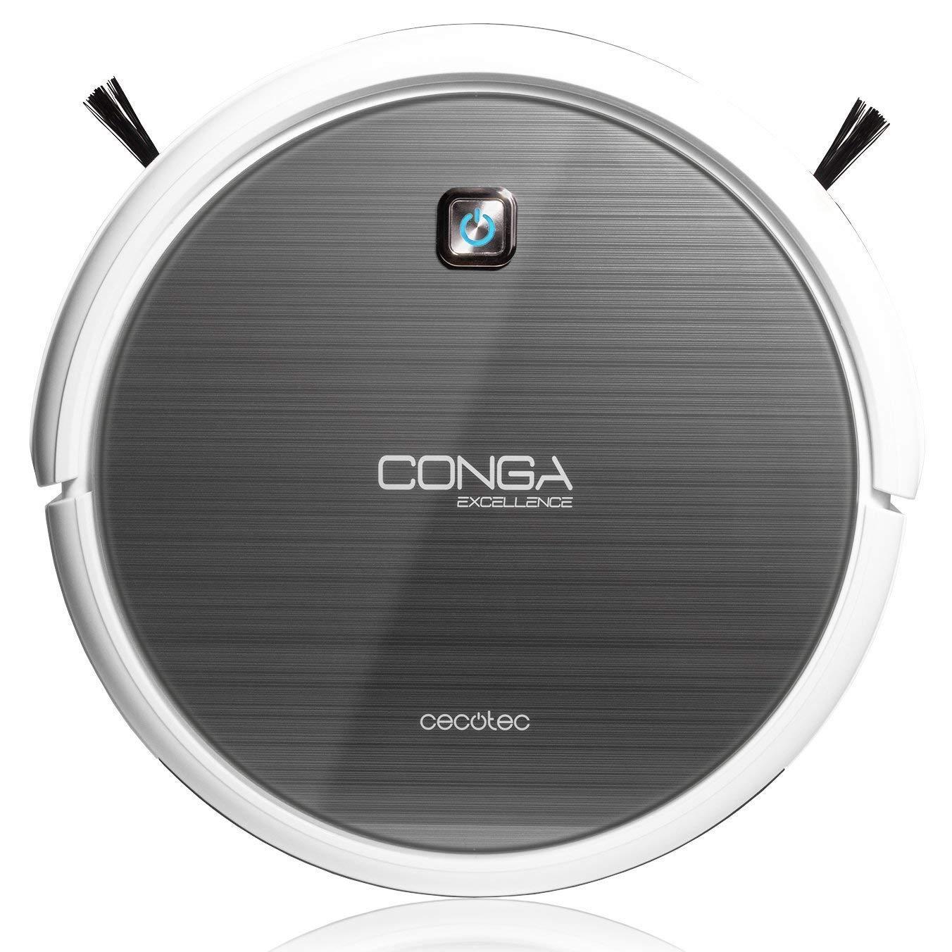Cecotec Conga Excellence - Robot aspirador (4 en 1, barre, aspira, pasa la mopa y friega el suelo, silencioso, programable)