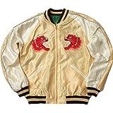 テーラー東洋 #TT14331 アセテート リバーシブル スカジャン 『RED TIGER × GOLD DRAGON』