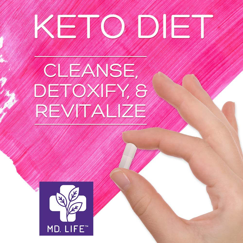 MD Life Keto Diet 5 Day Starter Cleanse Kit Detox Diet Pills Lose Weight No Carb Maintain Rapid Ketosis