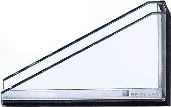biege- und sto/ßbelastbar. Glasplatten ESG 8mm Kanten geschliffen und poliert Ecken gesto/ßen klar durchsichtig Nach Ma/ß bis 110 x 200 cm ESG ohne Stempel 1100 x 2000 mm