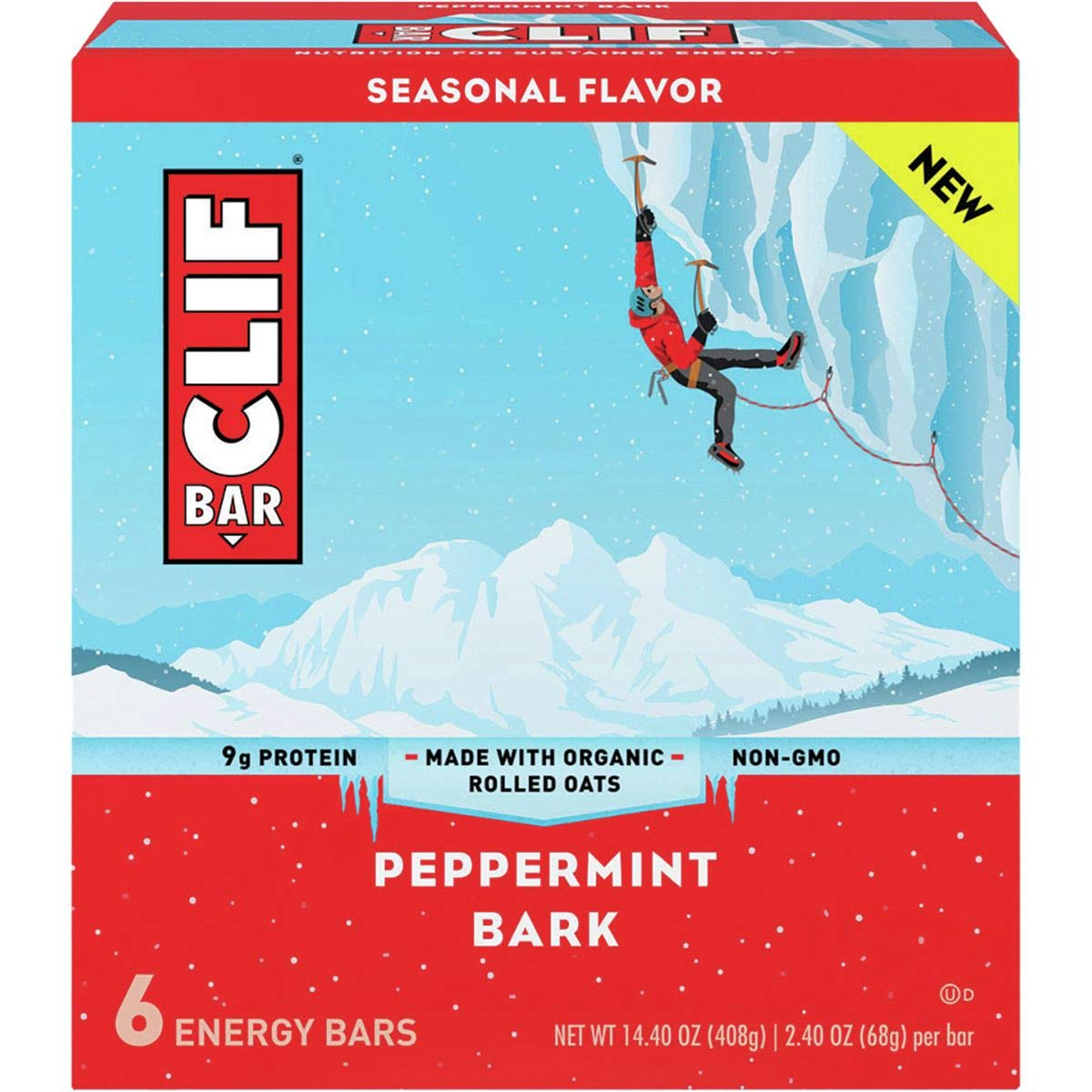 CLIF -Seasonal Energy Bar - Peppermint Bark - (2.4 oz, 12 Count) by Clif Bar