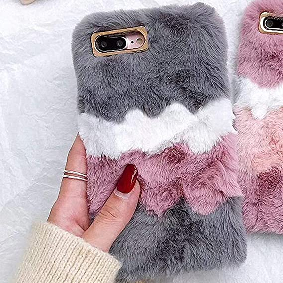 free shipping 2d9cb a96e2 Plush Cover for iPhone 5 5S SE Case LAPOPNUT Luxury Girls Soft Furry Case  Fluffy Ice Cream Faux Fur Silicon Cover Washable Warm Winter Protective  Case ...