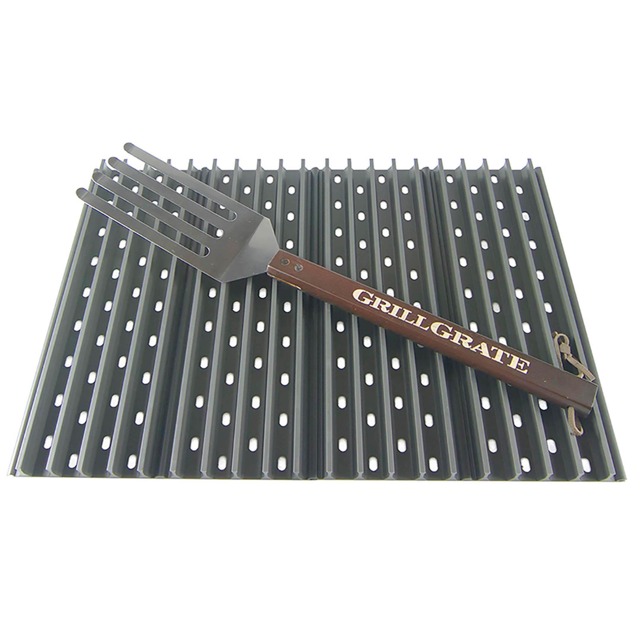 GrillGrate Set of Four 13.75'' (Interlocking) + Grate Tool by GrillGrate
