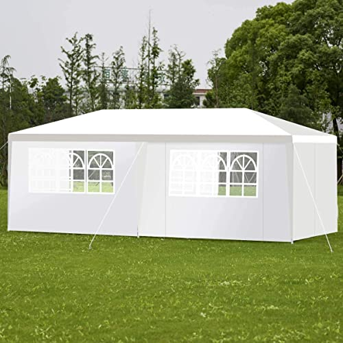 HAPPYGRILL Outdoor Canopy 10×20 Feet Tent Party Wedding Gazebo