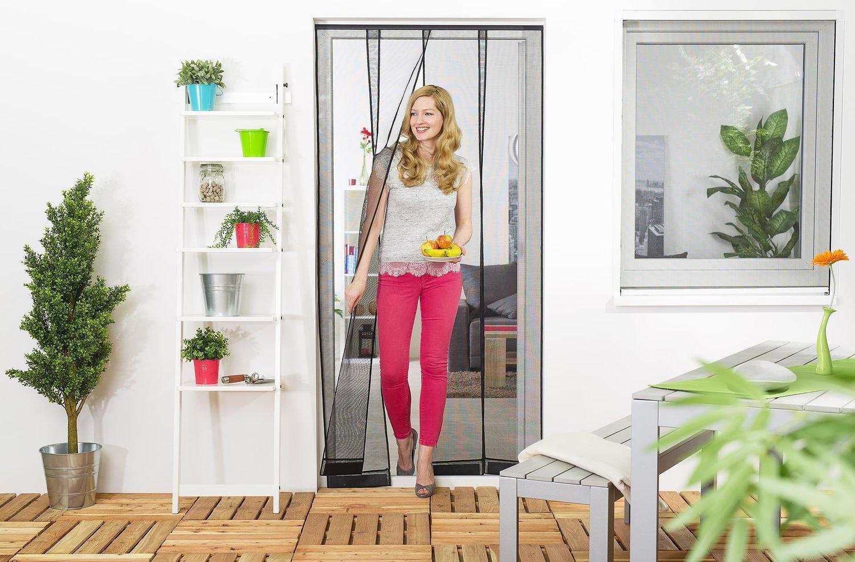 Wirksamer Insektenschutz Lamellenvorhang aus Filatec-Gewebe f/ür Balkont/üren bis 100 x 220 cm einfach und schnell zu montieren Fliegengitter mit 4 Lamellen in wei/ß oder schwarz