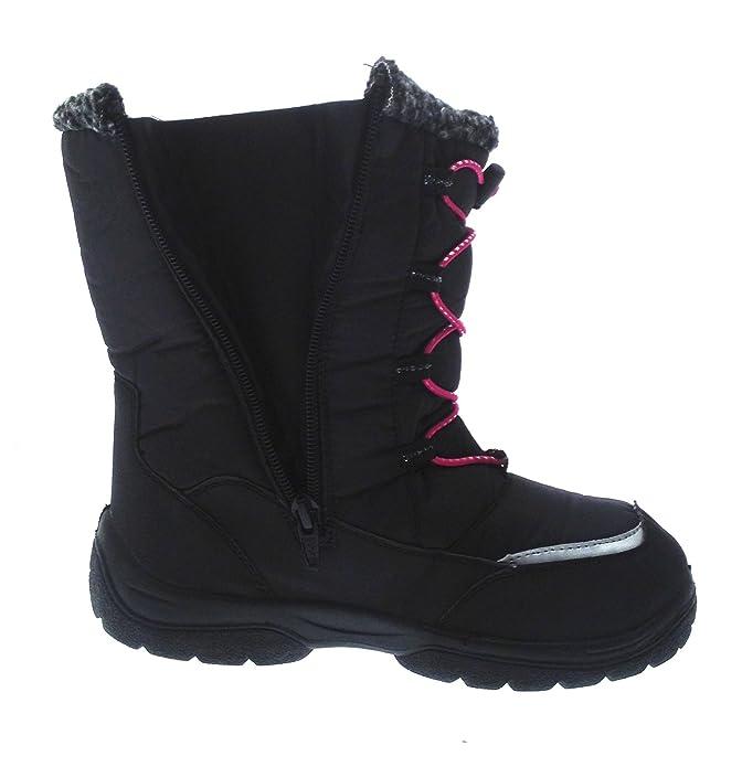 Kids Girls Waterproof Snow Boots Ski Jogger Moon Mucker Warm Winter Pink  Black Childrens Shoes Size UK 11.5: Amazon.co.uk: Shoes & Bags