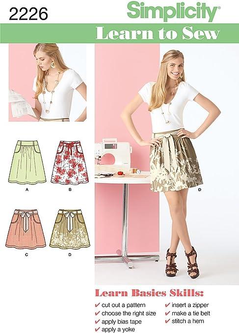 Simplicity 2226 Learn to Sew - Patrones de Costura para Faldas ...