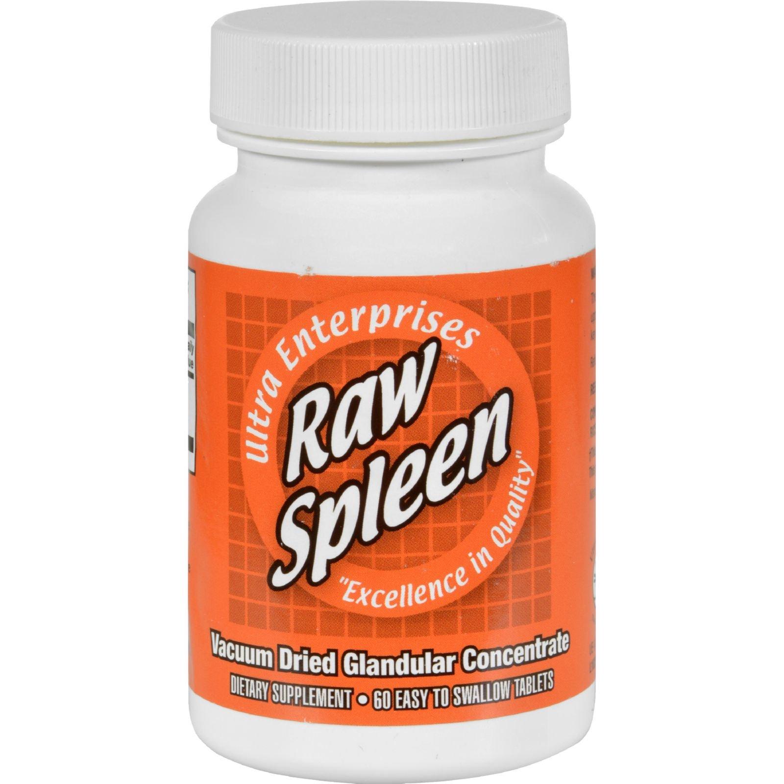 Ultra Glandulars Raw Spleen - Vacuum Dried Glandular Concentrate - 200 mg - 60 Tablets (Pack of 2) by Ultra Glandulars