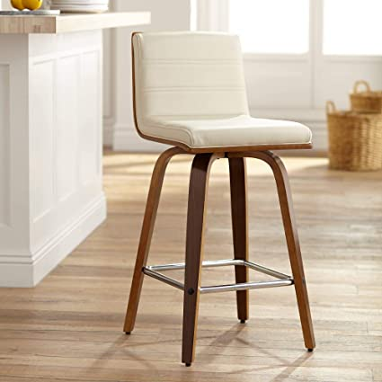 Brilliant Amazon Com Vienna 25 1 4 Cream And Walnut Swivel Counter Unemploymentrelief Wooden Chair Designs For Living Room Unemploymentrelieforg