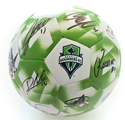 online store c0e3b a3b85 Image Unavailable. Image not available for. Color  Seattle Sounders 2019  Team Signed Soccer Ball ...