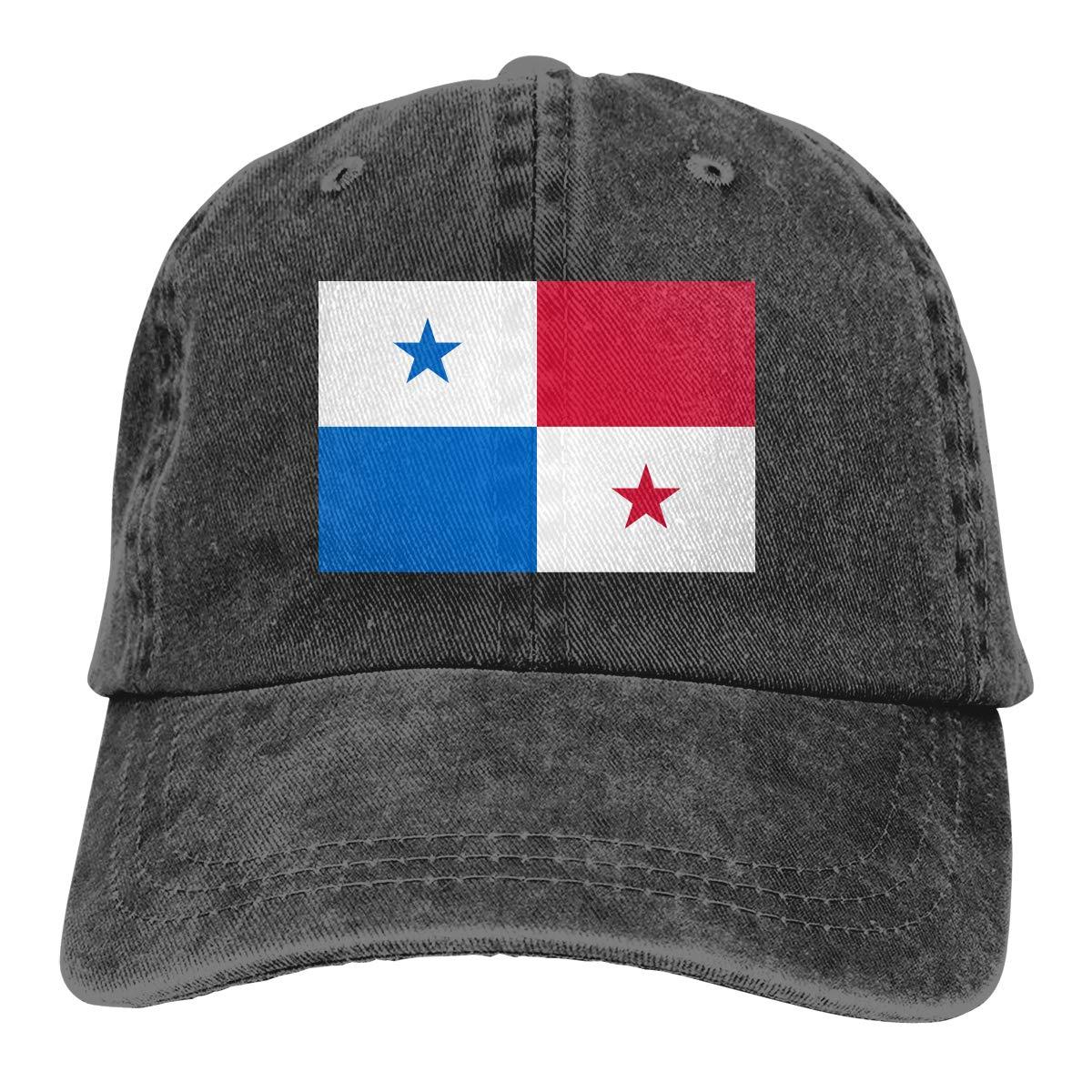Amayc Adjustable Mens Denim Baseball Caps Flag of Panama Cool Cotton Hats