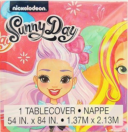 Amazon.com: SUNNY DAY Niñas Fiesta de cumpleaños mantel de ...