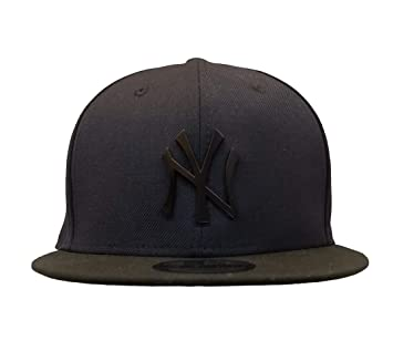 7c848e0cdf1 New York Yankees Navy Black Snapback 950 Hat with Matte Black Metal Logo