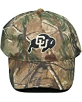 Univ. of Colorado Buffaloes Buckle Back Hat Embroidered Mothwing Camo Cap