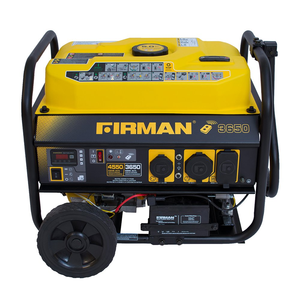 Firman P03603 4550/3650 Watt Remote Start Gas Portable Generator cETL on