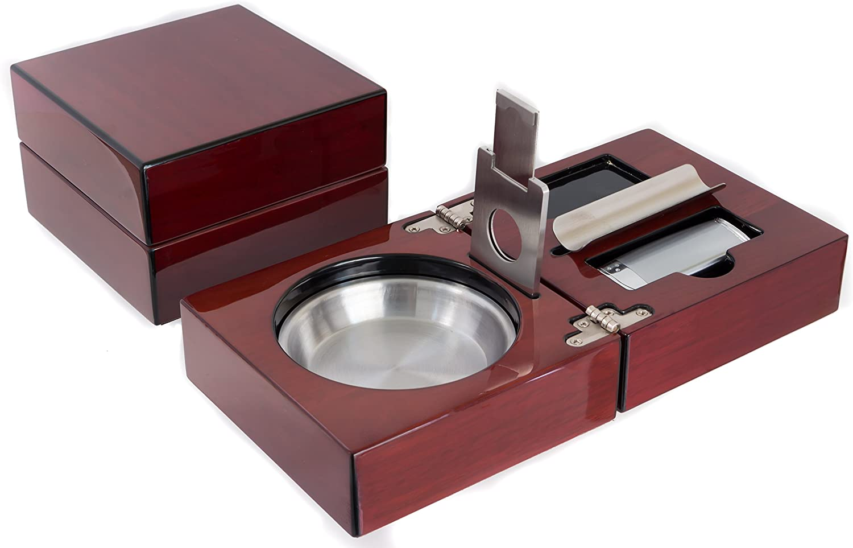 Premium Asian Elegant Luxury Cigare /& Cigarrette Gift Set Lighter /& Ash Tray!