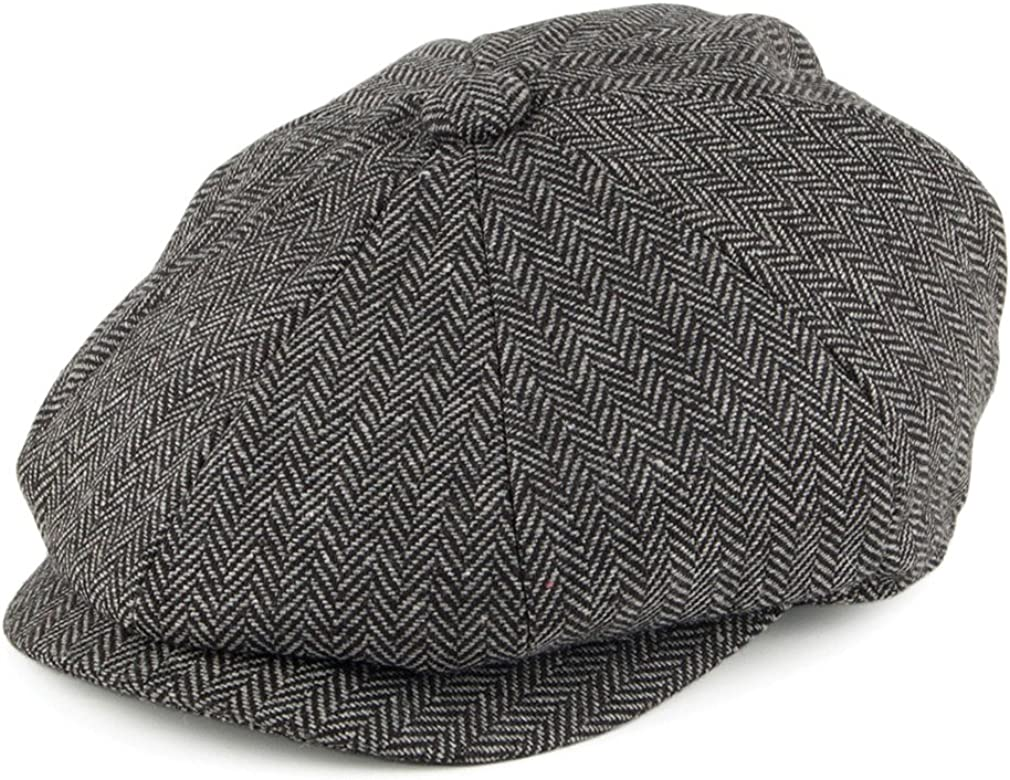 Thick and Soft Age 0-8 Years mintgreen Baby Herringbone Flat Cap Vintage Drivers Hat with Lining