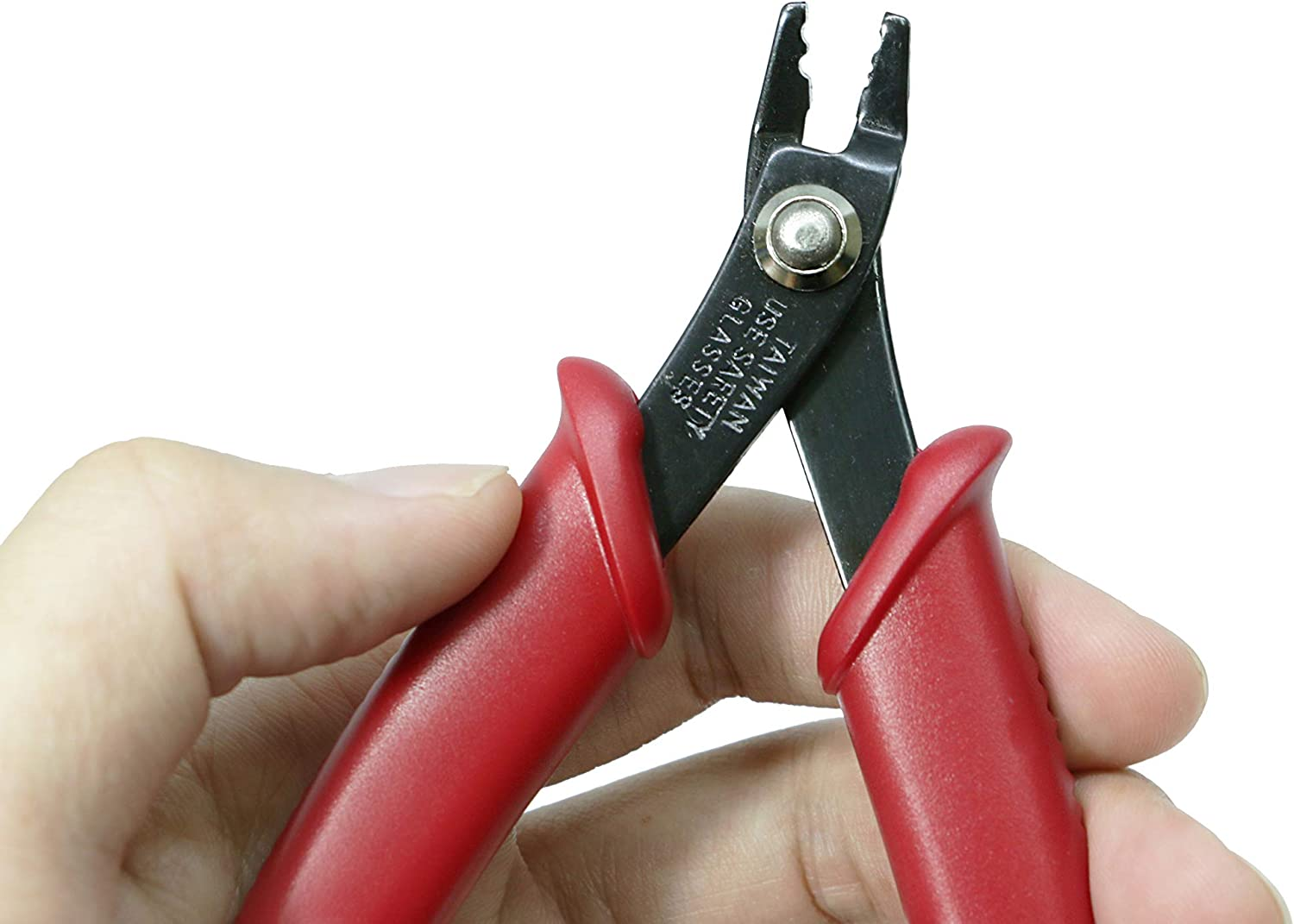 Beaditive Bead Crimping Plier for 2mm /& 3mm Beads and Tubes Red 5-Inch