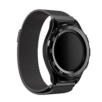 Huawei Watch 2 Reloj Banda, Dokpav® Milanese Loop Reemplazo Pulsera de Acero inoxidable Correa