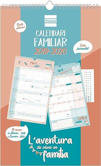 Calendario de pared familiar 16 meses 2019-2020 catalán Aventura ...