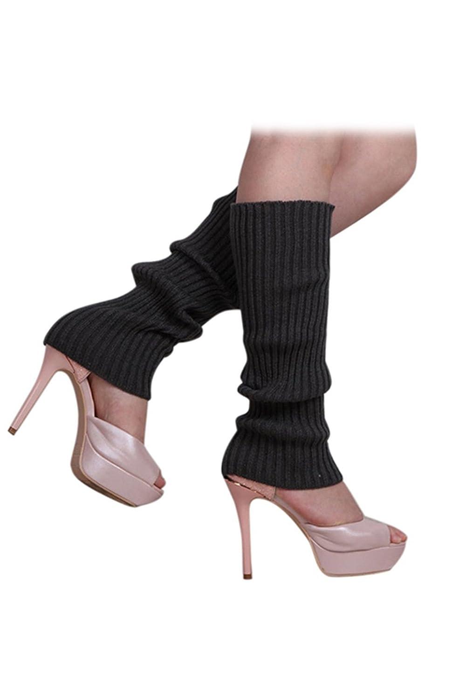 SODIAL(R)Femmes solide Couleur Tricotes sans pied Jambieres Gris fonce:  Amazon.fr: Vêtements et accessoires