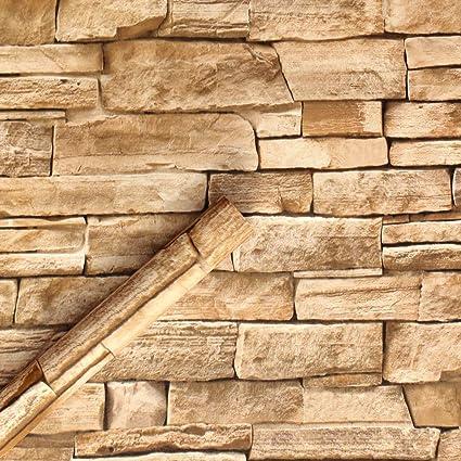 2fb8ab8ada687 HaokHome 1619M Papel Tapiz Papel Pintado de Piedra